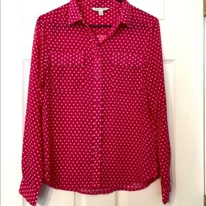 American Eagle women's sheer button up